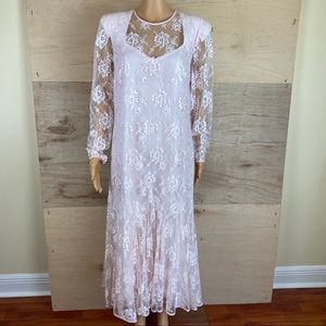 Vintage Miss Elliette Floral Lace Dress
